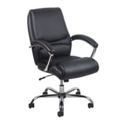 Essentials by OFM ESS-6070-BLK Leather Office Chair Fixed Arms, Black