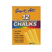 Sargent Art Dustless Chalks Yellow [Pack Of 12] (12PK-66-2014)