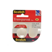 Scotch Transparent Tape 1/2 In. X 12 1/2 Yd. Dispenser Roll 144 [Pack Of 24] (24PK-144)