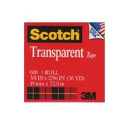 Scotch Transparent Tape 3/4 In. X 36 Yd. Refill Roll With 1 In. Core 600 [Pack Of 6] (6PK-6003436)
