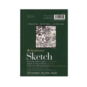 Strathmore Series 400 Premium Recycled Sketch Pads 5 1/2 In. X 8 1/2 In. 100 Sheets [Pack Of 3] (3PK-457-5-1)