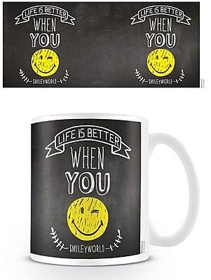 """""""""""Smiley """"""""""""""""Life Is Better"""""""""""""""" 11 oz. Mug (MG23795)"""""""""""" 2236665"""
