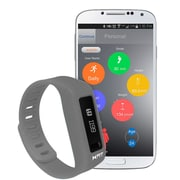 XFit Xtreme Wireless Bluetooth Fitness & Sleep Tracker Watch with Display - Grey