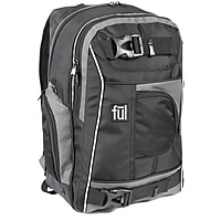 Ful Apex Laptop Backpack - Black/Grey