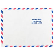 "JAM Paper® Tyvek Envelopes, 9"" x 12"" Open End, White Airmail, 10/Pack (2131102A)"