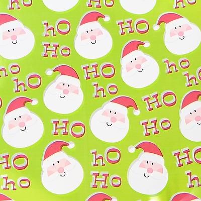 JAM Paper Christmas Wrapping Paper, Cartoon Santa