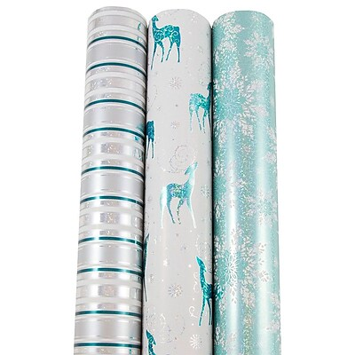 JAM Paper Premium Christmas Gift Wrap Assortment,