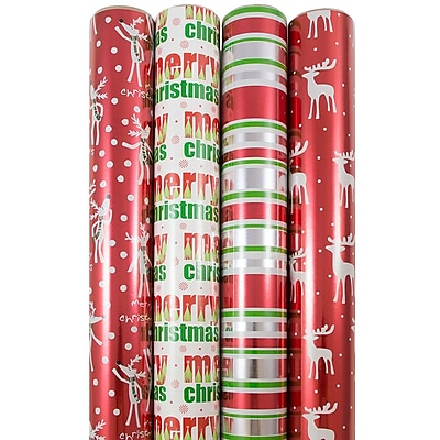 JAM Paper Premium Christmas Gift Wrap Assortment,