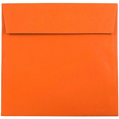 """""JAM Paper Square Envelopes, 7 1/2"""""""" x 7 1/2"""""""", Mandarin Orange, 50/Pack (294431294I)"""""" 2329323"