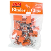 "JAM Paper® Binder Clips, Medium, 1.25""/32mm, Orange, 15/Pack (339BCOR)"