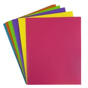 JAM Paper® Plastic 2 Pocket Eco Folders, Assorted Fashion Colors, 6/Pack (383EFASSRT)