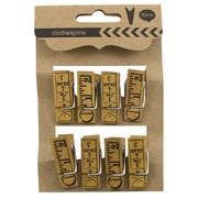 "JAM Paper® Wood Clothing Pins, Large, 1.5"", Wood Ruler Design, 8/Pack (526SJP264)"