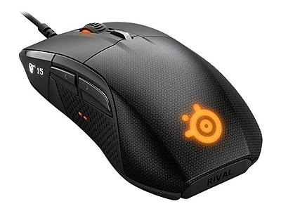 SteelSeries Rival 700 Optical Wired Gaming Mouse, Black (62331)