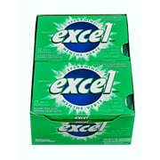 Excel – Gomme à mâcher sans sucre menthe verte, paq./12