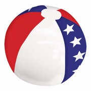 """Amscan Inflatable Beach Ball, 13"""", Red/White/Blue, 9/Pack (391919)"""