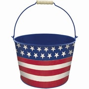 "Amscan Americana Metal Bucket, 7"", Red/White/Blue (430317)"