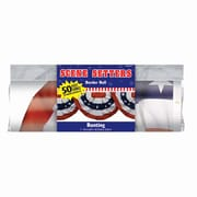 """Amscan Bunting Border Roll, 18"""" x 40', Red/White/Blue, 2/Pack (672176)"""