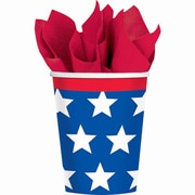Amscan Red, White and Blue Stars Paper Cup, 9oz, 3/Pack, 18 Per Pack (7396561)