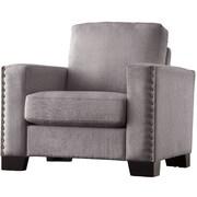Kingstown Home Navarro Nailhead Trim Arm Chair; Grey