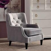 Donny Osmond Arm Chair; Fabric - Gray