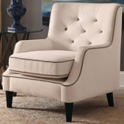 Donny Osmond Arm Chair; Fabric - White