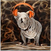 Omax Decor Rocking My Orange Headphones Original Painting
