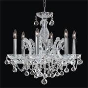 Glow Lighting Maria Theresa 6 Light Crystal Chandelier