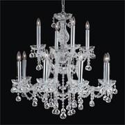 Glow Lighting Maria Theresa 12 Light Crystal Chandelier