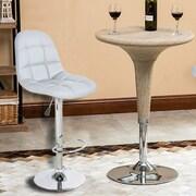 Merax Adjustable Height Swivel Bar Stool with Cushion (Set of 2)