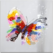 Omax Decor Sight of a Beautiful Butterfly Original Painting on Canvas