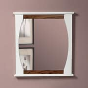 DecoLav Natasha Framed Mirror; Black Limba / White Gloss