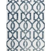 AMER Rugs Shibori White & Gray Area Rug; 7'6'' x 9'6''