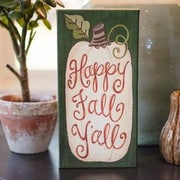 Glory Haus Fall 'Happy Fall Y'all' Textual Art on Canvas