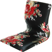 Oriental Furniture Tatami Hibiscus Meditation Fabric Lounge Chair