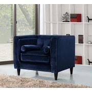 Meridian Furniture USA Taylor Velvet Club Chair; Navy