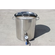 Concord Stainless Steel 80 Qt. Home Brew Kettle w/ 2 Welded on Couplers