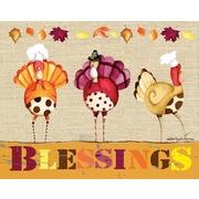 LANG Turkey Blessings Art Insert (3113011)