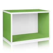 Way Basics Eco Stackable Large Rectangle Shelf and Storage Organizer, Green