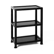 Way Basics Victoria 3 Tier Eco Friendly Storage Shelf and Bookcase, Black