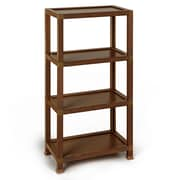 Way Basics Westminster 4 Tier Eco Friendly Storage Shelf and Bookcase, Espresso