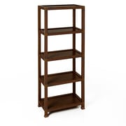 Way Basics Kensington 5 Tier Eco Friendly Storage Shelf and Bookcase, Espresso