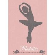 GreenBox Art 'Ballerina Lean Personalized' by Patti Rishforth Graphic Art on Canvas; 18'' H x 14'' W