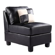 Glory Furniture Armless Chair; Vinyl - Purple