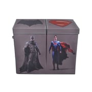 Modern Littles Batman vs. Superman Character Folding Double Laundry Sorter