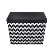 Modern Littles Bold Chevron Folding Double Laundry Sorter