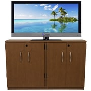 Venture Horizon VHZ Entertainment Double Multimedia Storage Cabinet; Cherry