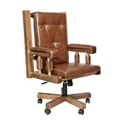 Montana Woodworks  Homestead Upholstered Office Chair; Stained and Lacquered