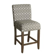 HomePop Finley 24'' Bar Stool with Cushion