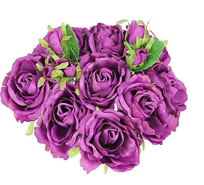 AdmiredbyNature 11 Stems Artificial Rose Bouquet; Lilac