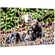 DesignArt Metal 'Abstract Moose' Graphic Art